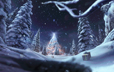 Cartier winter tale, concept art, matte painting